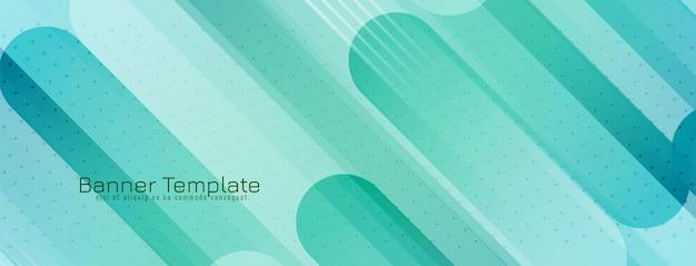 Moderner grüner geometrischer fahnen-designvektor