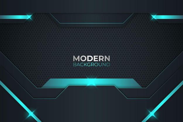 Moderner grüner und dunkler hintergrund
