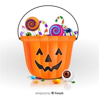 Moderner halloween-taschenentwurf