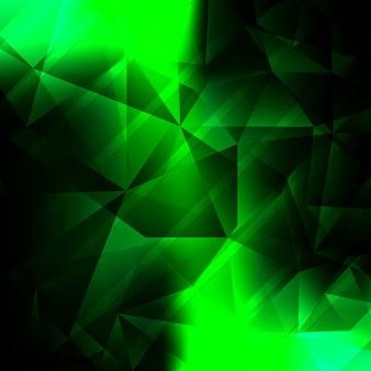 Moderner hellgrüner polygonaler hintergrund
