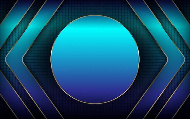 Moderner hintergrund der blauen kreisschicht