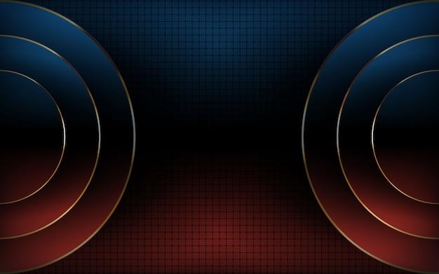 Moderner hintergrund der blauen und roten steigungszusammenfassung