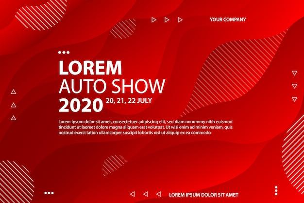 Moderner hintergrund der lorem-automobilausstellung