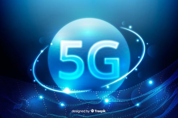 Moderner hintergrund der technologie 5g