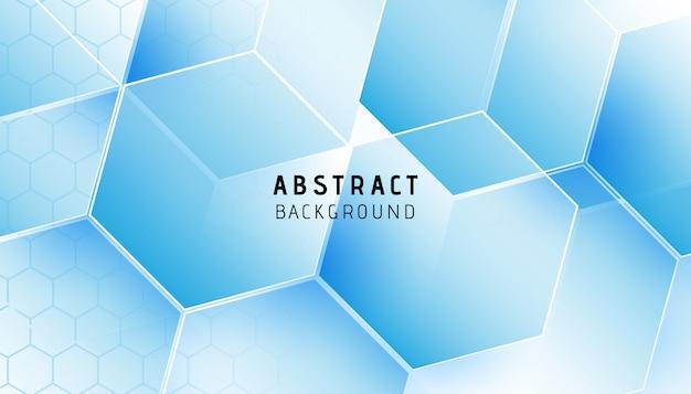 Moderner hintergrund des abstrakten blauen hexagons