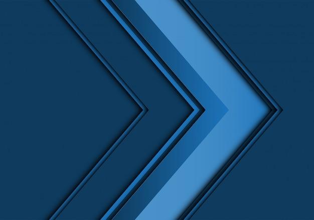 Moderner hintergrund des blauen pfeilrichtungsdesigns.