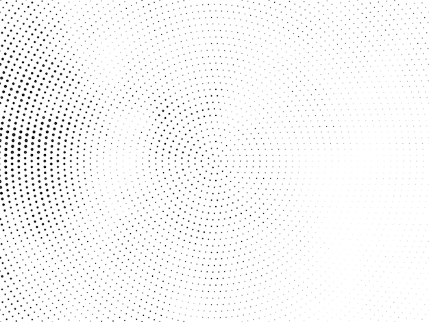 Moderner hintergrund des eleganten kreisförmigen halbtonentwurfs