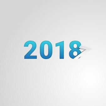 Moderner hintergrund des neuen jahres 2018