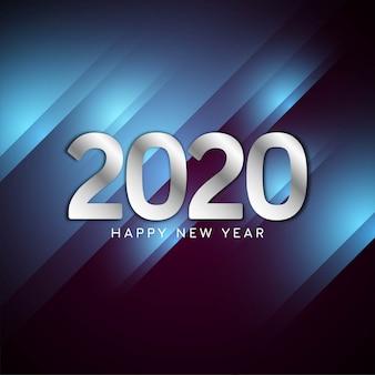 Moderner hintergrund des neuen jahres 2020