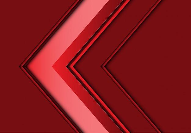 Moderner hintergrund des roten pfeilrichtungsdesigns.