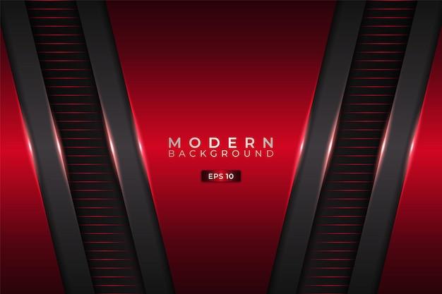 Moderner hintergrund futuristische technologie 3d realistische diagonalschicht rot mit metallic grau