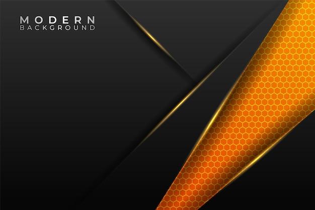 Moderner hintergrund futuristische technologie diagonal glow yellow