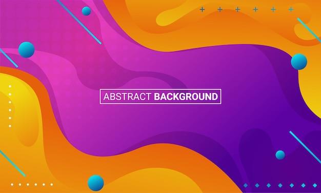 Moderner hintergrund mit abstrakten elementen und dynamischen formen