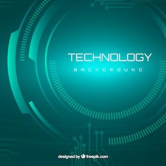 Moderner hintergrund mit cyber-technologie