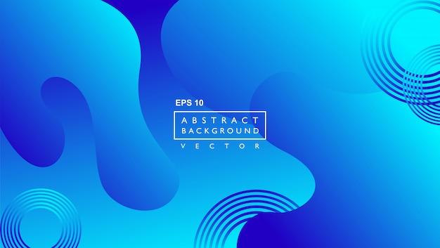 Moderner hintergrund mit geometrischer abstrakter flüssiger form. blau