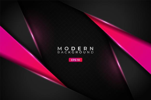 Moderner hintergrund premium diagonal overlapped 3d-technologie leuchtender farbverlauf pink metallic