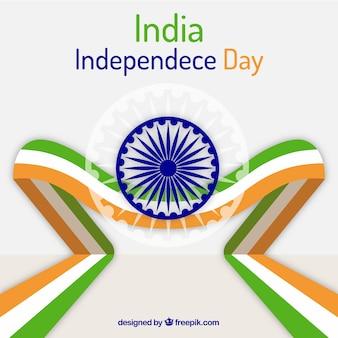 Moderner indischer unabhängigkeitstaghintergrund