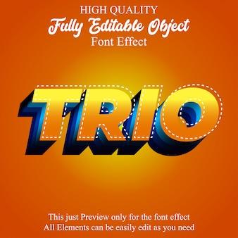 Moderner kühner 3d gelber orange editierbarer schrifteffekt