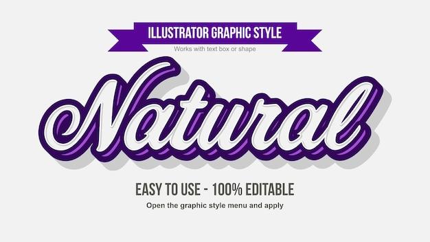 Moderner kursiver bearbeitbarer kalligraphieeffekt in weiß und lila