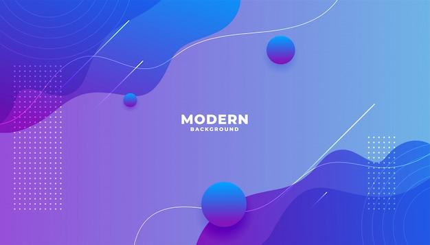 Moderner lebendiger flüssiger gradientenhintergrund mit kurvenformen