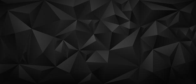 Moderner low-poly-hintergrund aus schwarzem metall