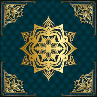 Moderner luxuriöser dekorativer mandala-hintergrund