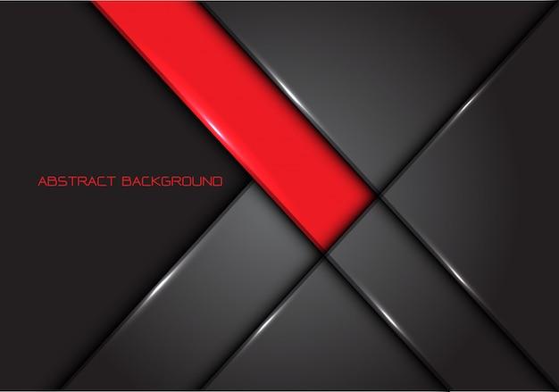 Moderner luxushintergrund der roten grauen linie glatten metalldesigns.