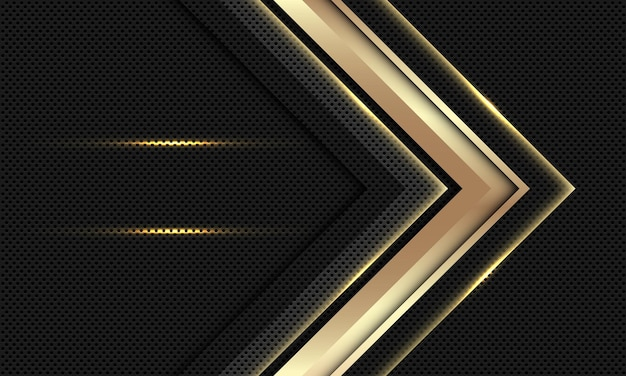 Moderner luxushintergrund des abstrakten goldpfeils.