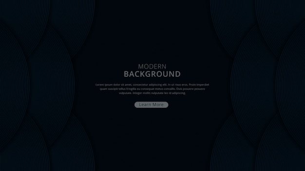 Moderner luxushintergrund mit dunklem marinefarbthema-prämienvektor der kurvenform