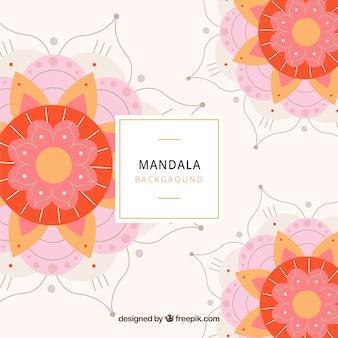 Moderner mandalahintergrund mit bunter art