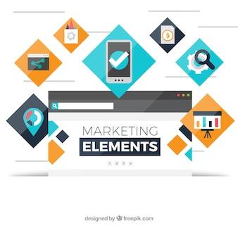 Moderner marketing-elementhintergrund