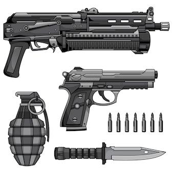 Moderner maschinengewehrvektor