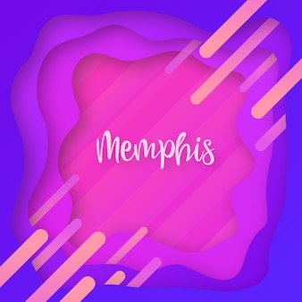 Moderner memphis-alles gute zum geburtstag-plakat-hintergrund