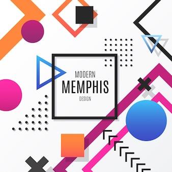 Moderner memphis-design-hintergrund
