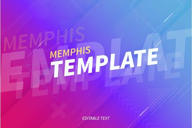 Moderner memphis-hintergrund mit abstrakten formen