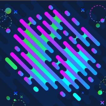 Moderner memphis-hintergrund mit hellen neonfarben