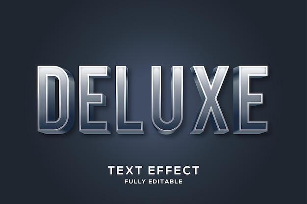 Moderner metallic silber text style effekt