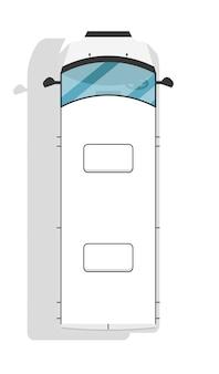 Moderner minivan der draufsicht lokalisiert