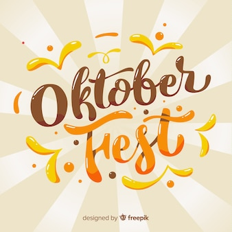 Moderner oktoberfest beschriftungshintergrund