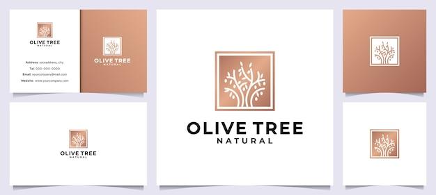 Moderner olivenbaum