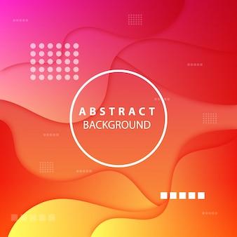 Moderner orange und rosa hintergrund von abstrakten formen