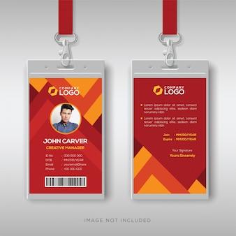 Moderner personalausweis mit abstraktem hintergrund