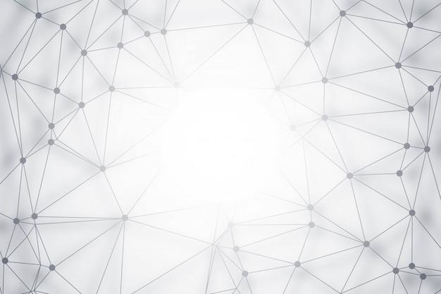 Moderner polygontechnologiehintergrund