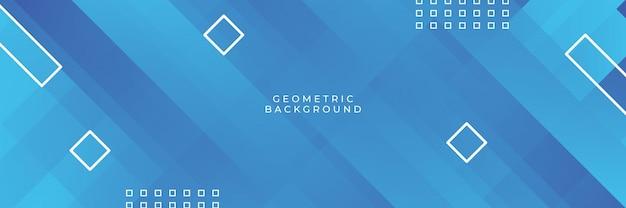 Moderner professioneller blauer vektor abstrakter technologiegeschäftshintergrund mit linien und geometrischen formen. blauer hintergrund mit modernem tech-konzept