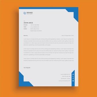 Moderner professioneller briefkopf im corporate-business-stil abstraktes kreatives briefkopf-design