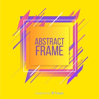 Moderner rahmen mit abstrakten formen
