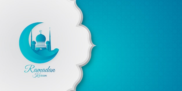 Moderner ramadan-kareem-hintergrund