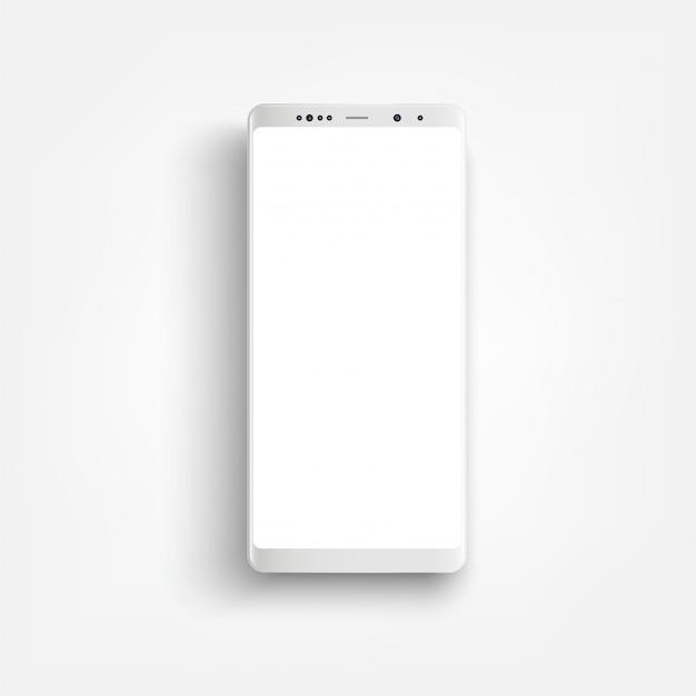 Moderner realistischer weißer smartphone