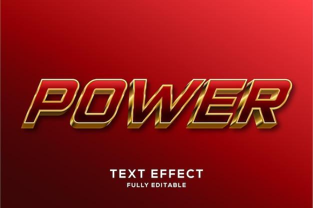 Moderner red & gold 3d text style effekt