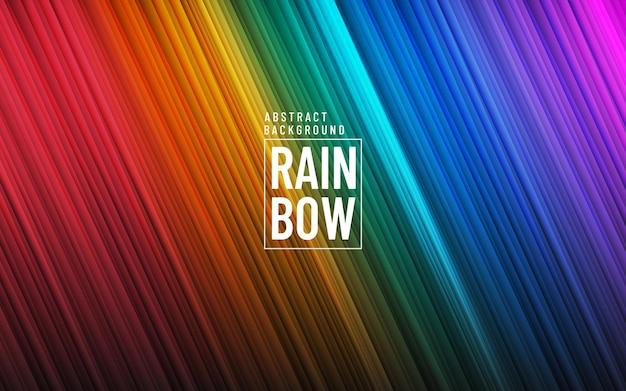 Moderner regenbogenfarbhintergrund mit diagonaler beleuchtungslinienbeschaffenheit.